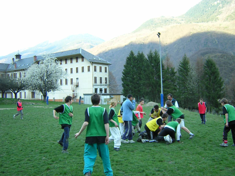 Le terrain de rugby
